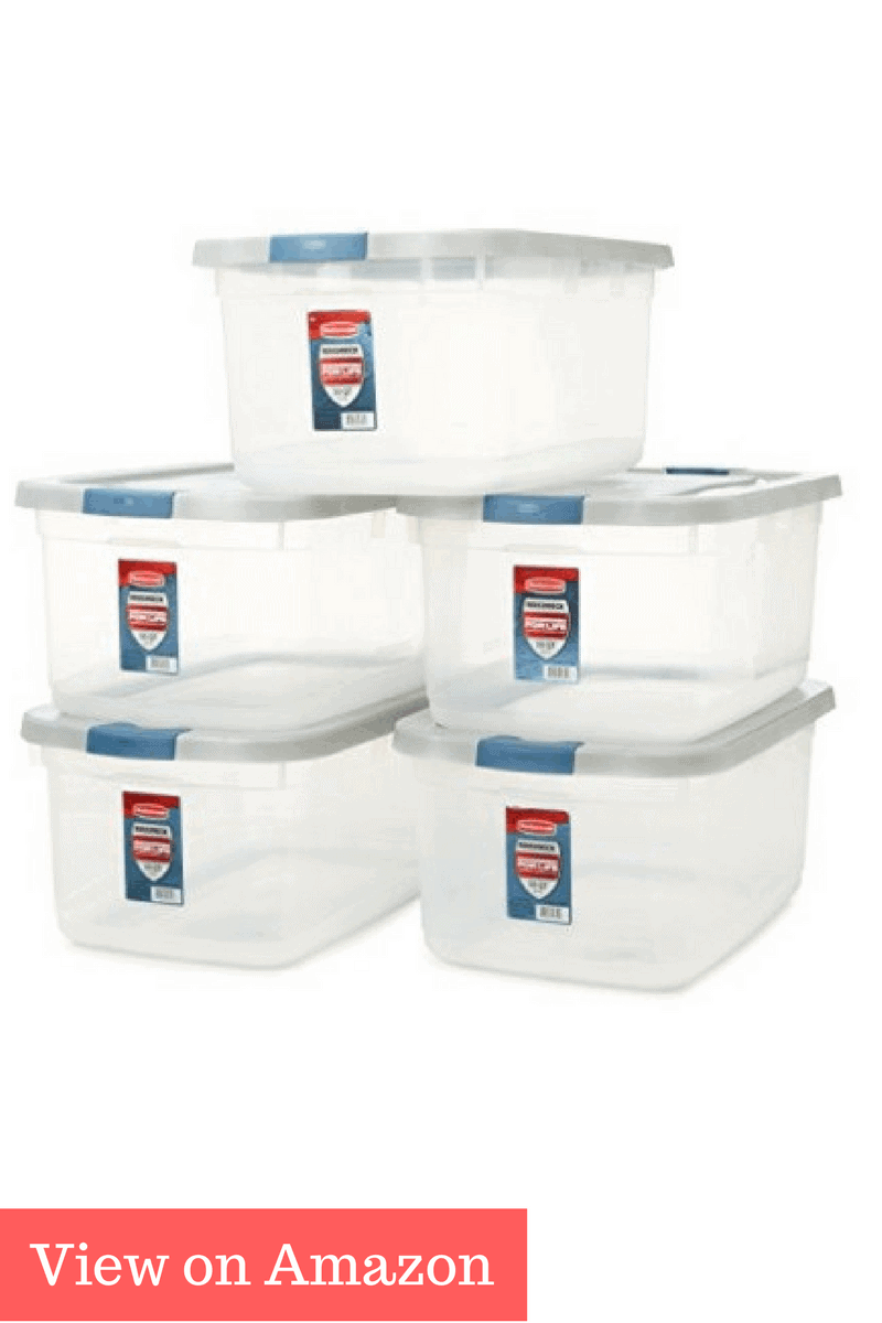 rubbermaid roughneck clear storage container 50 qt clear base best storage containers